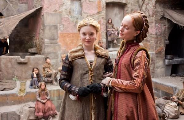 "Lucrezia Borgia (Holliday Grainger, left) and Guilia Farnese (Lotte Verbeek) team up to clean up Rome and the College of Cardinals in ""The Borgias."""