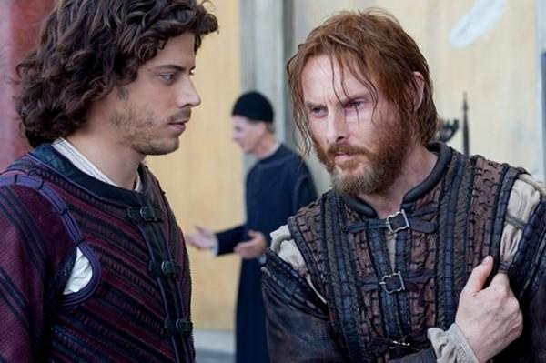 Cesare Borgia (Francois Arnaud) and Micheletto (Sean Harris) round up Rome's stray dogs to fight the French.