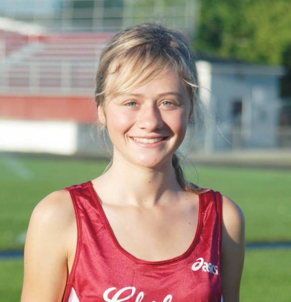 Freshman Amber Way set the Charlevoix girls 3200-meter record Friday at the Clare Invitational.