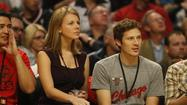 "Zach Gilford wanted to acknowledge the crowd when he appeared on the United Center scoreboard Saturday, but the""Friday Night Lights"" actor wasn't sure how."