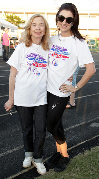 Diann Geronemus, left, and Heather Geronemus at the Weston Relay for Life, which took place on April 14 at Cypress Bay High School located in Weston. Proceeds benefited the American Cancer Society.