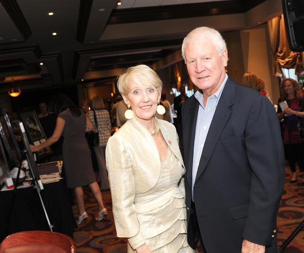 "Bonnie Mason, left, and Jerry Mason at the American Red Cross Palm Beaches-Treasure Coast Region's ""Honoring the Hero in All of Us"" event, which took place at Ruth's Chris Steak House located in Boca Raton."