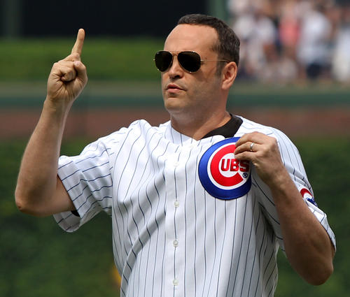 If you've seen a Vince Vaughn movie before, you know which team he roots for.