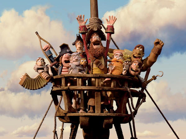 "In this film image released by Sony Pictures, the cast is shown in a scene from ""The Pirates! Band of Misfits."""