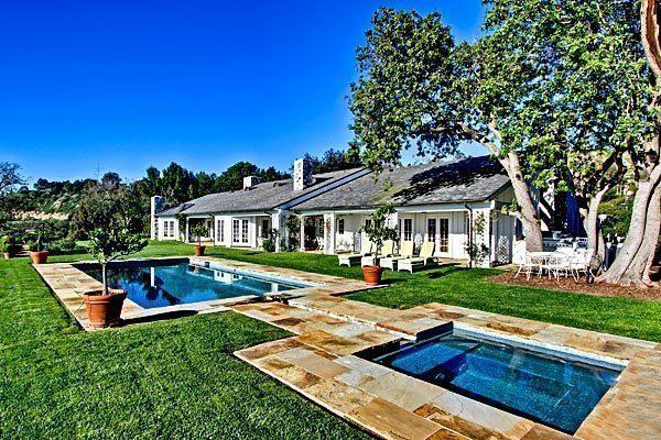 The California rancho-inspired house in Rolling Hills is listed at $6.495 million.