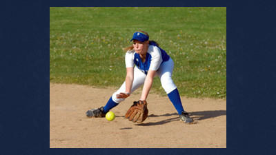 Second baseman Kristin Paul fields a ground ball for Berlin at North Star on Monday.