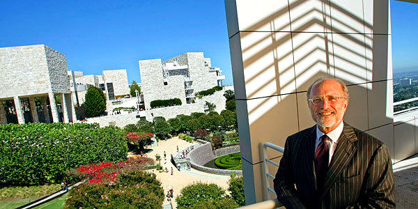 Jim Cuno, president and CEO of the J. Paul Getty Trust, in Los Angeles on the grounds of the museum.