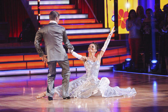 Derek Hough and Maria Menounos, shown here from last week's Motown episode, continued to dance well on this week's ""