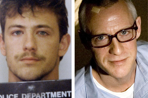 David W. Boyce is shown in his 1990 mug shot, left, and in January 2010. He was convicted in 1991 of the murder of Timothy Kurt Askew, but a judge threw out the conviction last year, based on the fact that key evidence in Boyce's favor wasn't shared with his trial attorney.