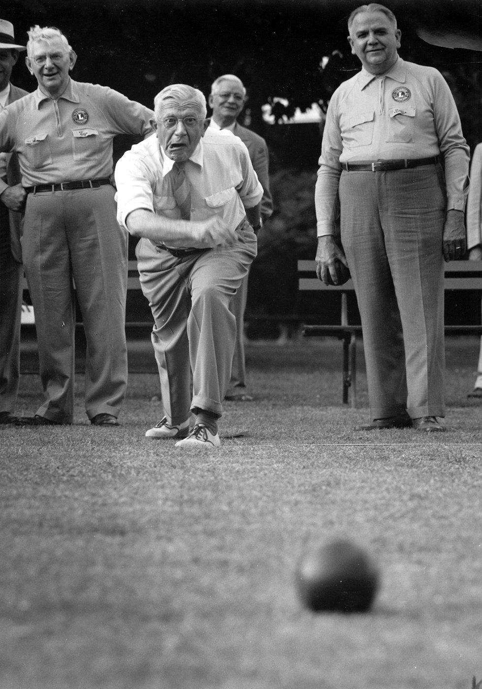 1951: Bocce ball