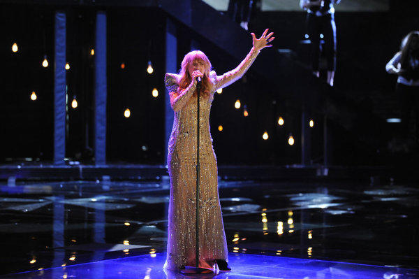 "Juliet Simms sings on ""The Voice."""
