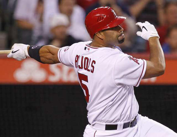 Albert Pujols strikes out against the Minnesota Twins on April 30.