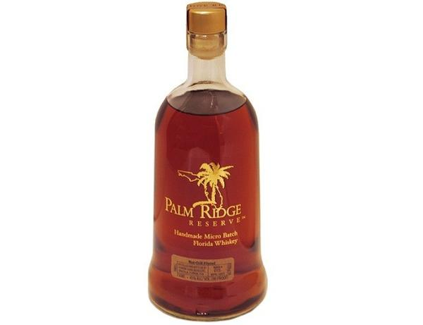 <b>Maker:</b> Florida Farm Distillers, Umatilla, PalmRidgeReserve.com <br><br> <b>Price: </b>$55 for a 750 ml bottle <br><br> Marti and Dick Waters have owned their Umatilla farm for more than 20 years. Their goal has always been to make a living from the farm instead of working outside. After reading about Midwest farmers successfully starting distilleries, they transformed their barn. For the last three years, they've been hand producing about 6,000 bottles a year. <br><br> The Waters utilize a traditional method of whiskey making which results in a more intense, grain forward flavor profile. Hands-on production also results in a higher price point than many whiskeys, but the taste of this bourbon-style whiskey is well worth it. Along with sipping, restaurants across the state are using it for everything from ice-cream infusions, to bread puddings and barbecue sauces. <br><br> Last month, the whiskey won a silver medal at the American Distilling Institutes National Conference.
