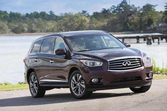 Three-row crossovers have no trouble selling to buyers who are immune to the siren song of practicality seeping from the island of minivan. Crossovers feign SUV coolness in a way minivans can't. They also promise luxurious, multi-passenger comfort, even in that third row of seats. Some are terrible at keeping that promise. Infiniti's 2013 JX crossover is not.