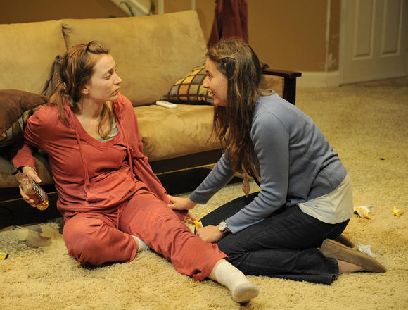 "In ""Tigers Be Still,""  Kasey Foster plays Grace and Mary Winn Heider is Sherry."