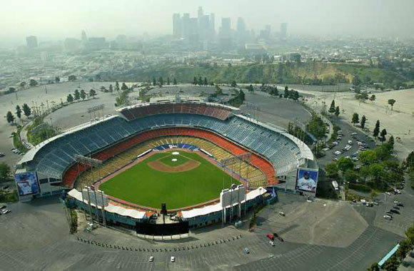 Dodger Stadium in Los Angeles.