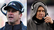 "Ravens coach John Harbaugh clarified comments he made on a local radio station Tuesday in which he said that Super Bowl championships won by the New England Patriots were ""stained"" and have ""asterisks"" because of the Spygate scandal in 2007."