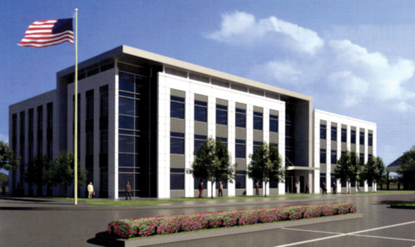 An artist rendering of Fountainhead One Professional Offices, a 55,555 square-foot, three-story office building under construction at Fountainhead Plaza near Hagerstown.