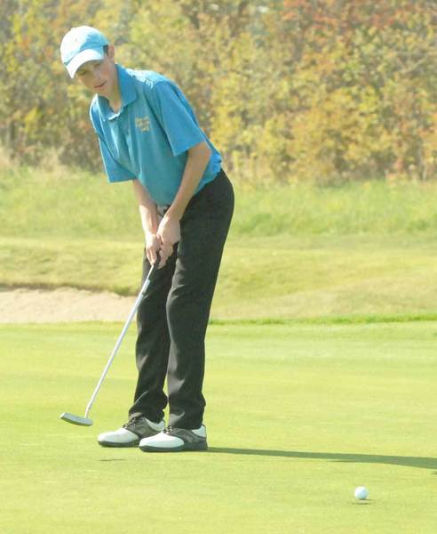 Connor Kintz of Alanson-Pellston shot a Northern Lakes Conference nine-hole record 33 Tuesday at Crooked Tree Golf Club.