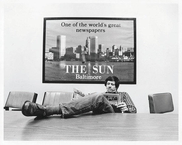 David Ettlin relaxes in a Sun conference room.