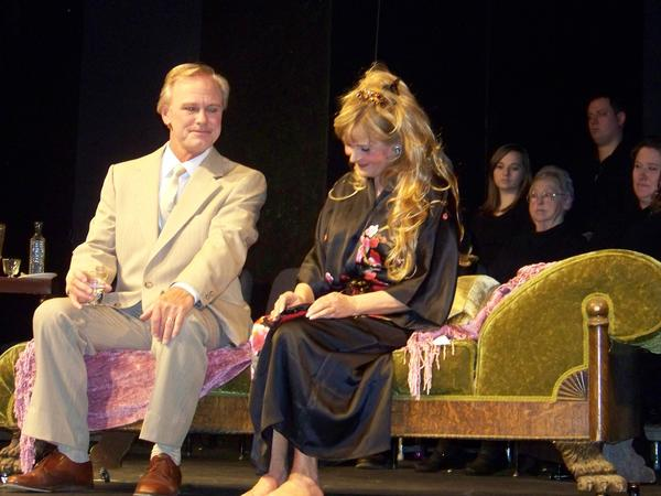 "Steven Spencer (left) and Gerry Lou Kania perform a scene in ""A Little Night Music."""