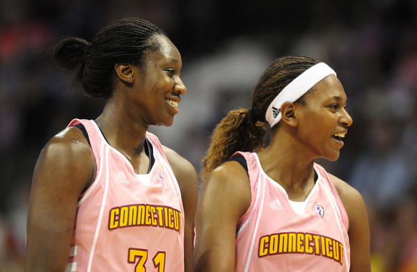 Tina Charles and Asjha Jones.