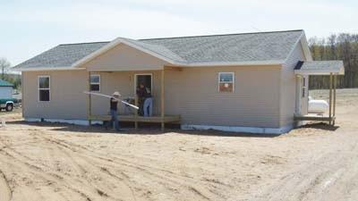 Pellston High School's building trades education program is helping Northwest Michigan Habitat for Humanity construct this home near Alanson.