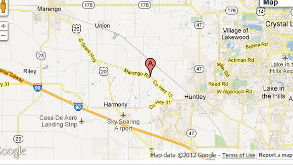 One killed, three injured in Huntley crash