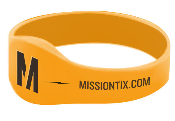 """MissionTix introduces ticket wristband, a reusable, digital band for concert-goers to use as their """"ticket"""" to get into shows."""