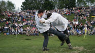 Shin-Kicking (June 1, Dover's Hill, near Chipping Campden, Gloucestershire)