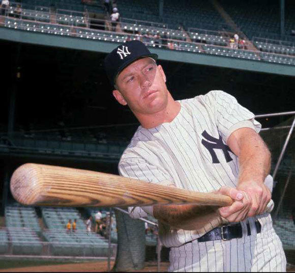 Mickey Mantle with the Yankees in 1961.
