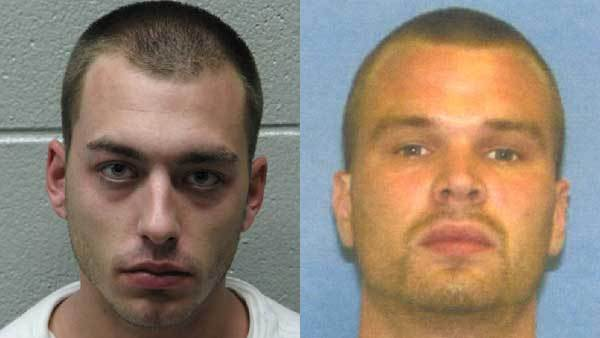 Booking photos of Matthew Zucco, left, Clinton Johnson