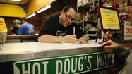 The man who graced Chicago with Hot Doug's super sausages is now asking customers for a little something in return: their memories.