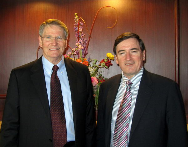 Richard Wilson (left), has been named the Port of Anchorage's new director by Mayor Dan Sullivan (right). Wilson has been an Alaskan for 37 years, and spent 13 years as development director during major improvements at Ted Stevens Anchorage International Airport.