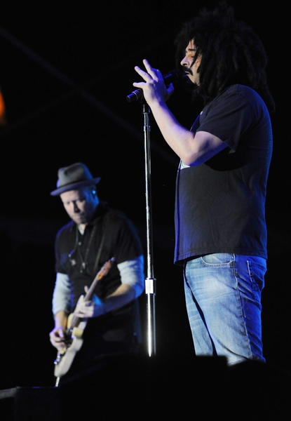 Adam Duritz of The Counting Crows performs during SunFest 2012 in downtown West Palm Beach.