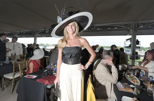 ESPN's Erin Andrews attends the 137th Kentucky Derby at Churchill Downs.