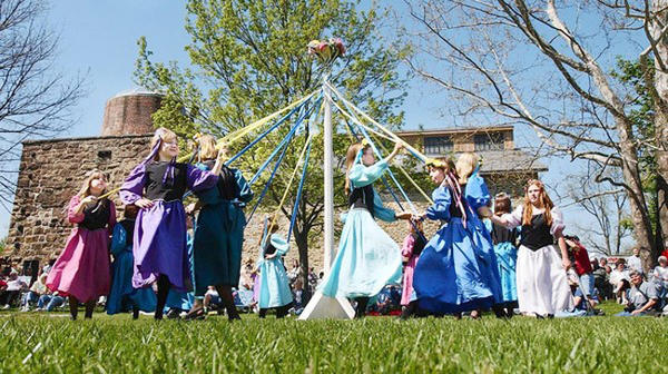 Celebrate spring Renaissance style on Saturday with a traditional May Pole, jesters, gypsies, dancers and the crowning of the May Queen in the shadow of the castle-like historic Lockridge Furnace in Alburtis. <p> The free festival, celebrating its 30th anniversary, is presented by the Lockridge Theatre Group, which plays Renaissance music and wears historically-accurate costumes. A choreographed performance begins at 2 p.m. and includes archers, jesters, wenches, singers, dances and a fire twirler.