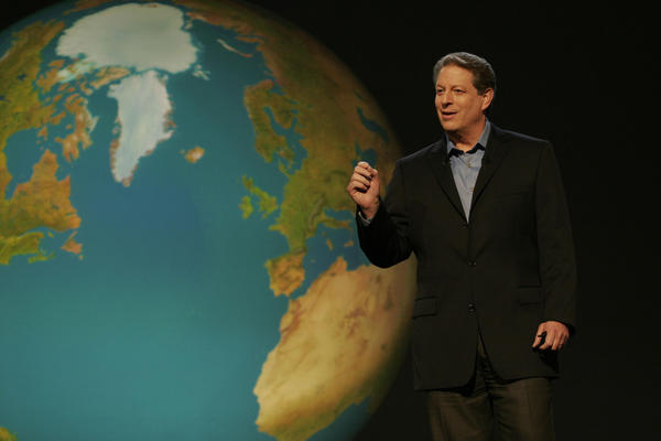 Al Gore at Hampshire College says global warming is real.