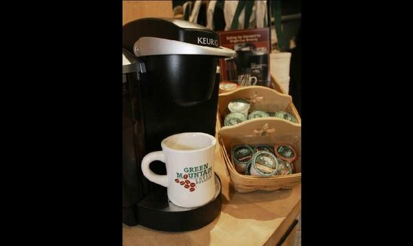 Green Mountain's Keurig coffee maker. The company's stock lost almost half its value after disappointing second-quarter results.