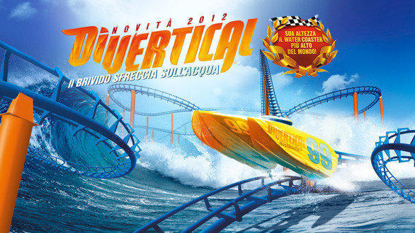 Divertical water coaster at Italy's Mirabilandia