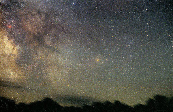 View of the Milky Way in the night sky at Cherry Springs State Park