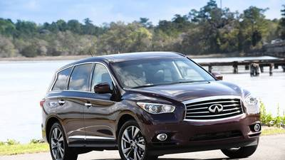 Review: Infiniti JX offers comfort even in the third row