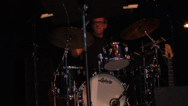 Drummer Vinnie Colaiuta at the Herbie Hancock concert Thursday. Colaiuta has also worked with Frank Zappa and Joni Mitchell.