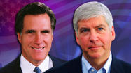 A newspaper in Tampa, FL., is speculating that Michigan Governor Rick Snyder could be presidential candidate Mitt Romney's running mate in the 2012 presidential election.