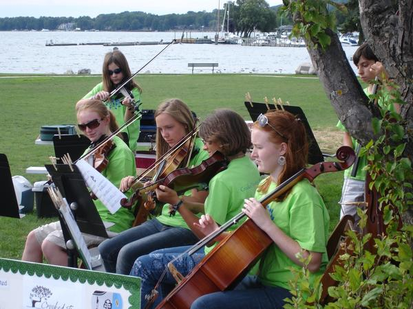 Summer Strings Camp for young musicians is offered through Crooked Tree Arts Center in Petoskey.