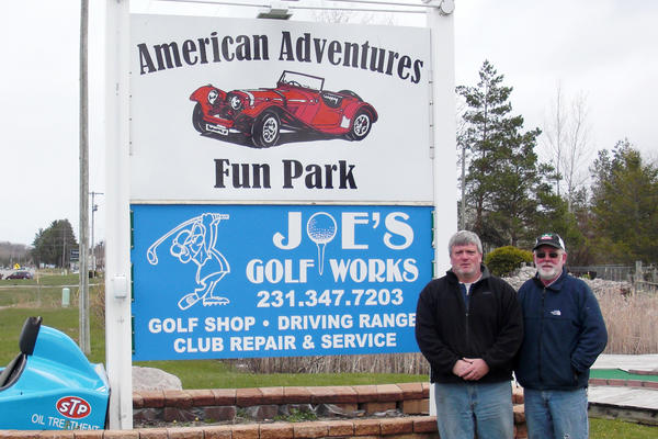 Great American Adventures Fun Park in Petoskey is run by owner-manager Brad Haase (left) and owner Mark Bryan.
