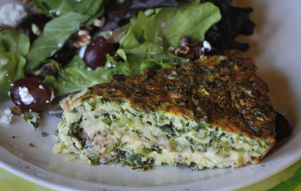 A frittata plate from Soups On