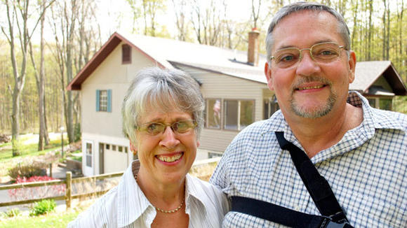 This year's Buergermeister Rudi Edel with his wife Sandi at their Dover Township home.