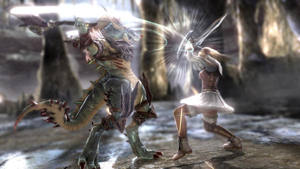 "<i>Xbox 360, PlayStation 3</i> <br> <b> 2.5 stars</b> <br> Like its predecessors, ""Soulcalibur V"" is a great looking one-on-one 3-D fighter that differentiates itself because the characters wield signature weapons such as Nightmare's comically enormous broadsword. After playing through the compelling story mode found in last year's ""Mortal Kombat,"" the single-player story in ""Soulcalibur V"" is a disappointment. But if you play fighting games for the competition against your friends or random strangers online, it might be time to pick up your sword, staff or nunchuks again."