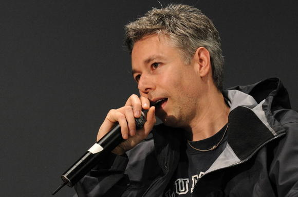 Adam Yauch speaks onstage at the Apple Soho store on May 2, 2008 in New York City.